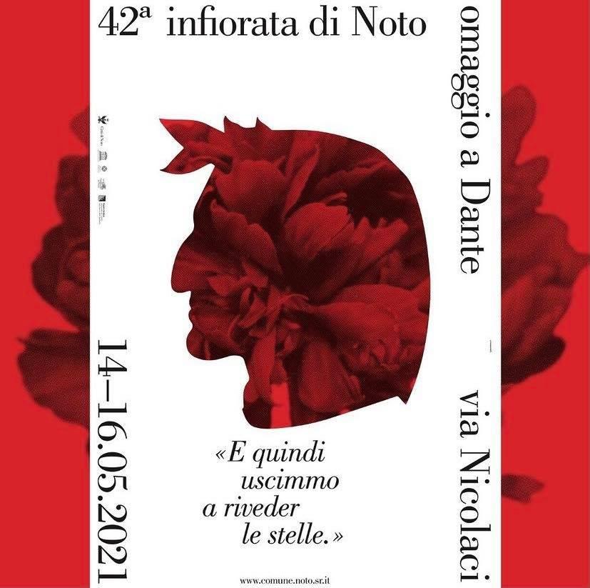 L'Infiorata di Noto 2021 sarà dedicata al Sommo Poeta: Dante Alighieri