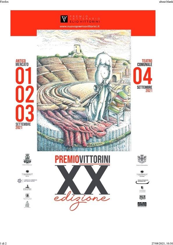 XX edizione del Premio Letterario Nazionale Elio Vittorini: tre giornate ricche di appuntamenti