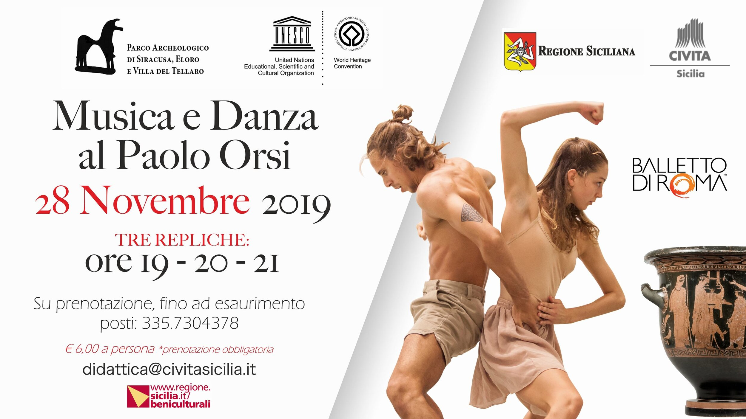 Il Museo Paolo Orsi si trasforma in palcoscenico per il Balletto di Roma