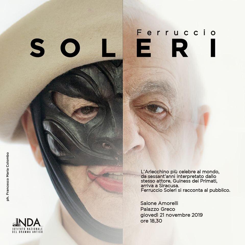 Ferruccio Soleri a Siracusa, per raccontare il suo Arlecchino e la commedia dell'arte