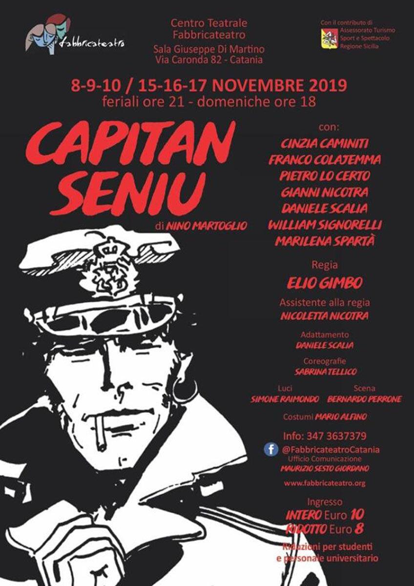 """A Catania il debutto di """"Capian Seniu"""" di Martoglio con la regia di Elio Gimbo"""