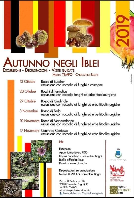 L'autunno siciliano nei boschi e nelle foreste degli Iblei