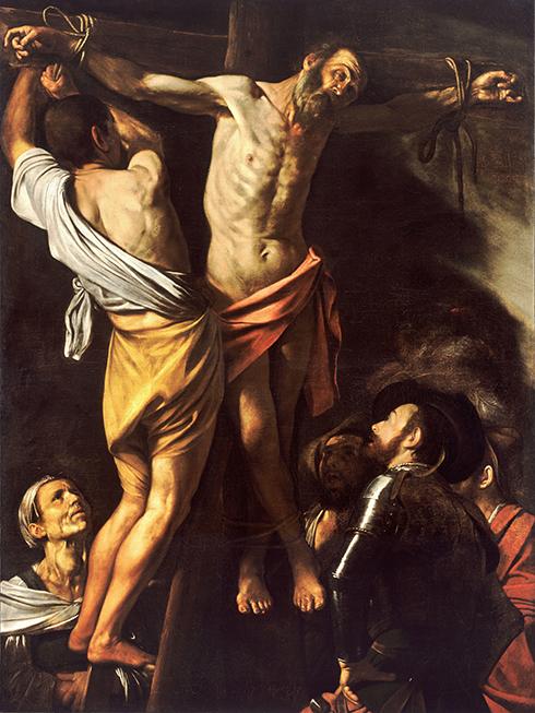crocefissione-di-santandrea-caravaggio-1579711093.Crocefissione-di-santAndrea-Caravaggio