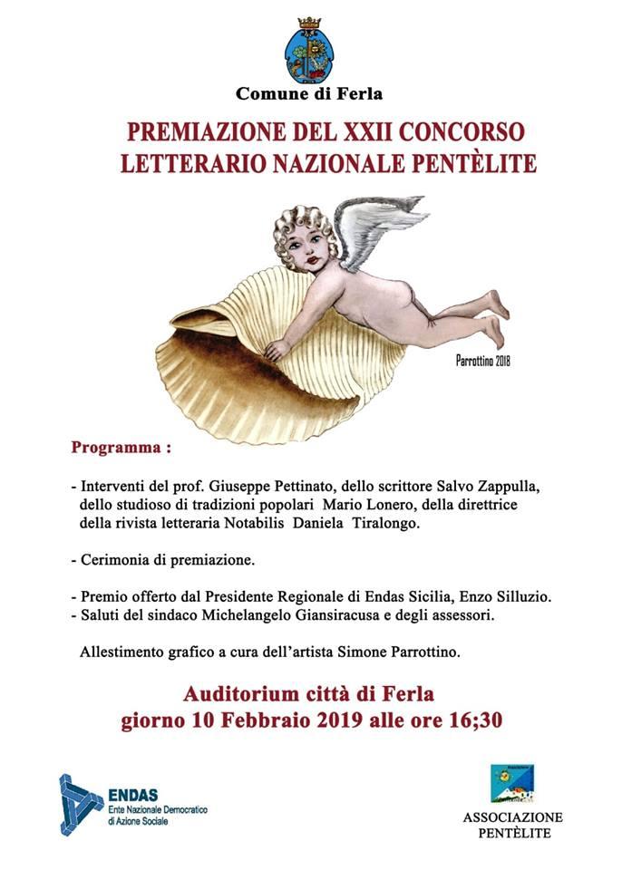 A Ferla la premiazione del XXII Concorso Nazionale Pentèlite