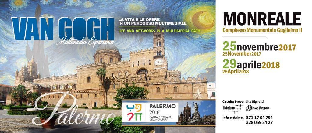 Da Taormina Van Gogh si sposta a Monreale grazie alla Multimedia Experience