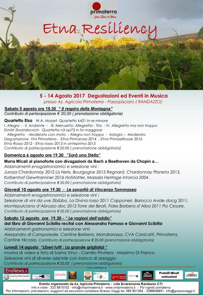 """""""Etna Resiliency"""", il progetto di Primaterra dal 10 al 14 Agosto"""
