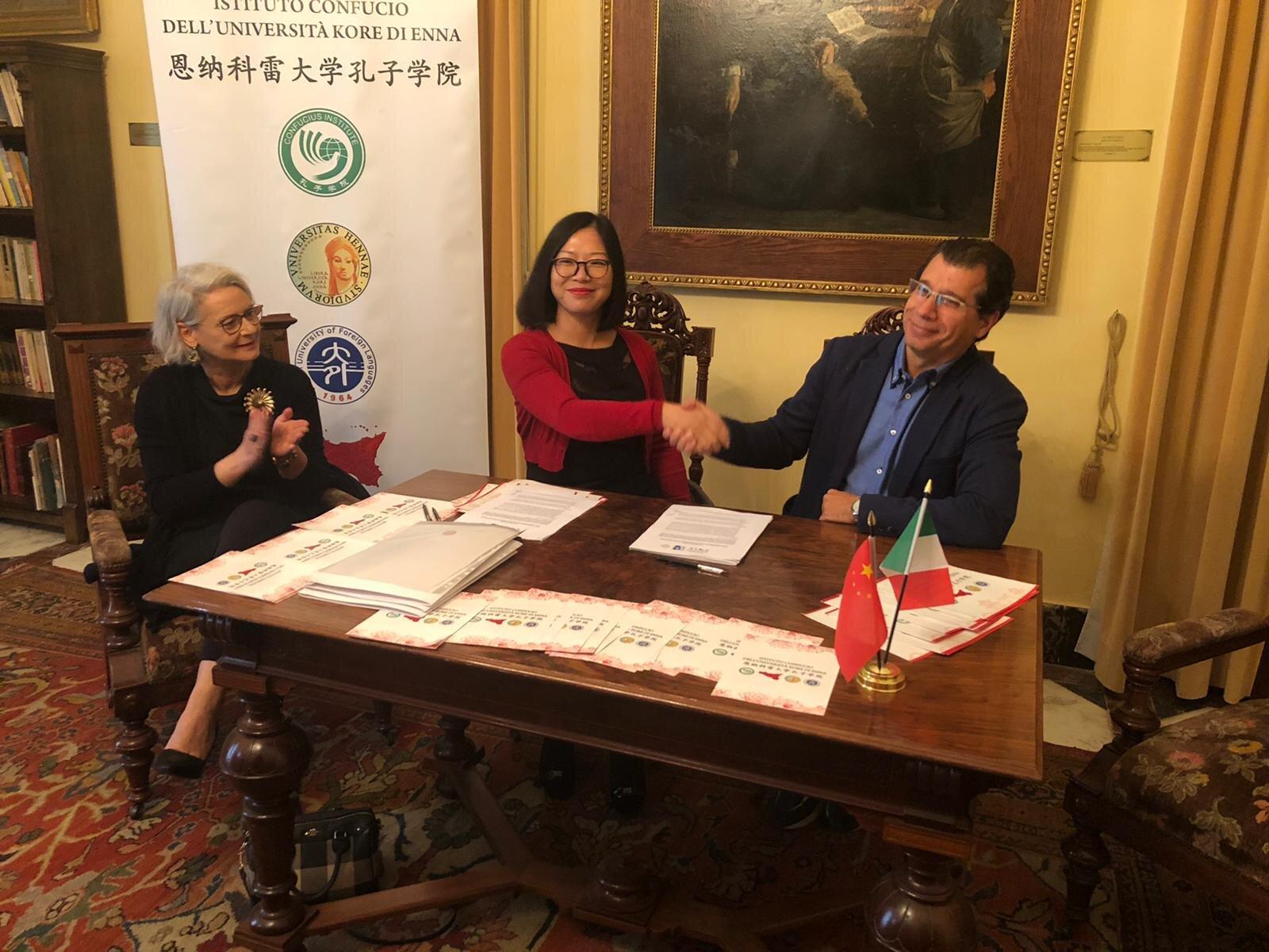 Protocollo di intesa fra Enna, Siracusa e la Cina: il 2020 sarà un anno di grandi novità