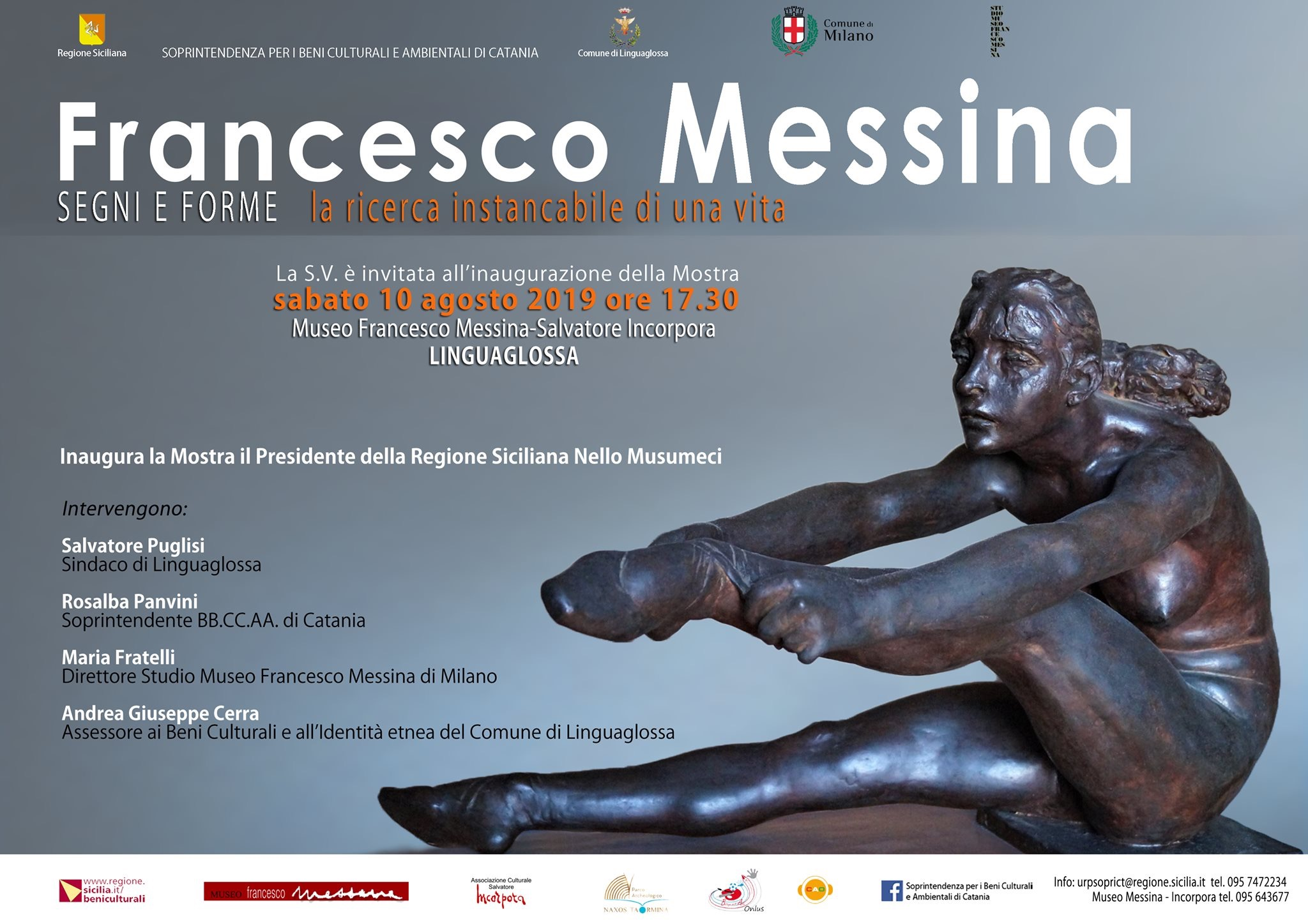 La mostra dedicata a Francesco Messina a Linguaglossa
