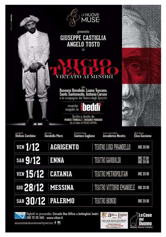 """A PRESTO IL NUOVO TOUR DI REPLICHE DI """"MICIO TEMPIO VIETATO AI MINORI"""""""